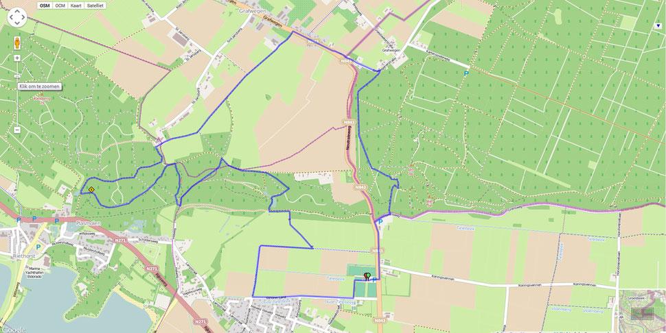 Ketelwald Trail parcour 9 km