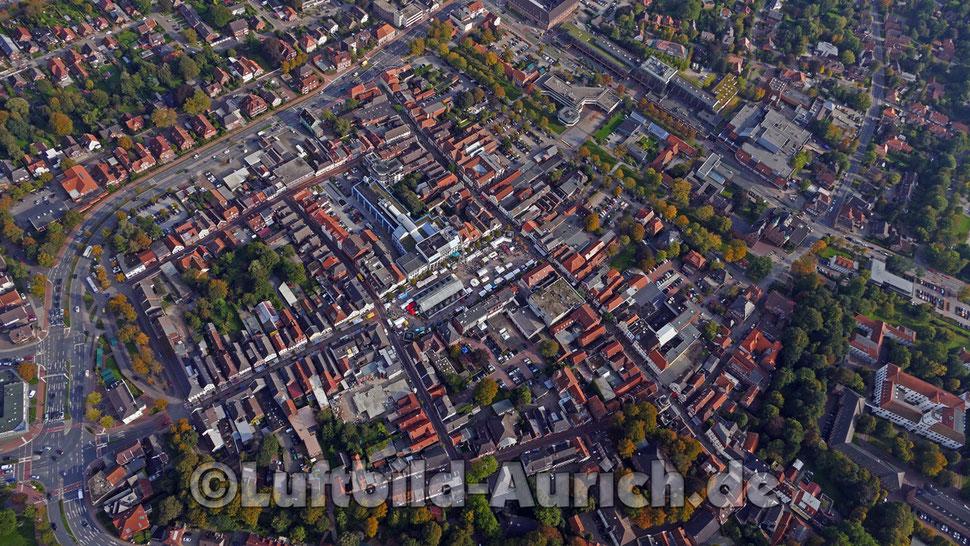 Aurich Innenstadt Marktplat Markthalle