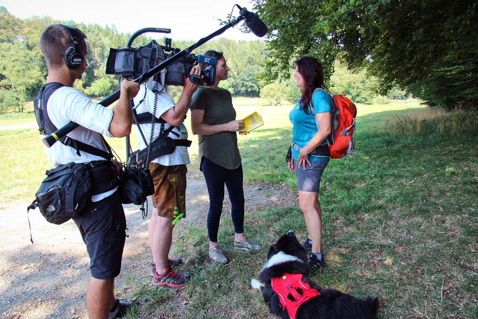 TV Dreh BR Abendschau; mein-wanderhund; Andrea Obele
