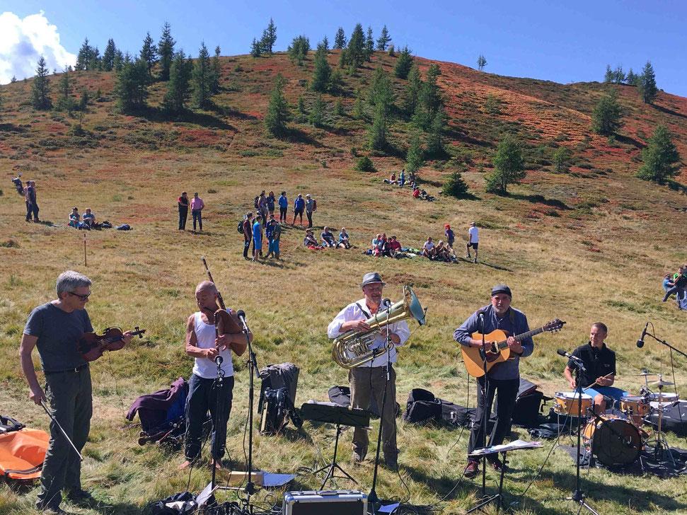 Die Südtiroler Band Titlà sorgte für Stimmung