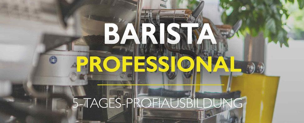 Barista Professional, ein 5-Tages-Kurs für alle, die beruflich mit Kaffee zu tun haben wollen