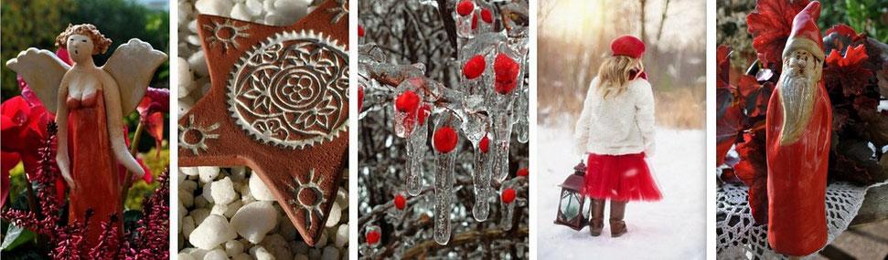 Keramik für Winter und Weihnachten