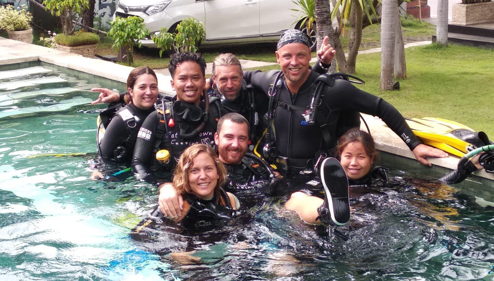 internat divemaster de plongée à Bali
