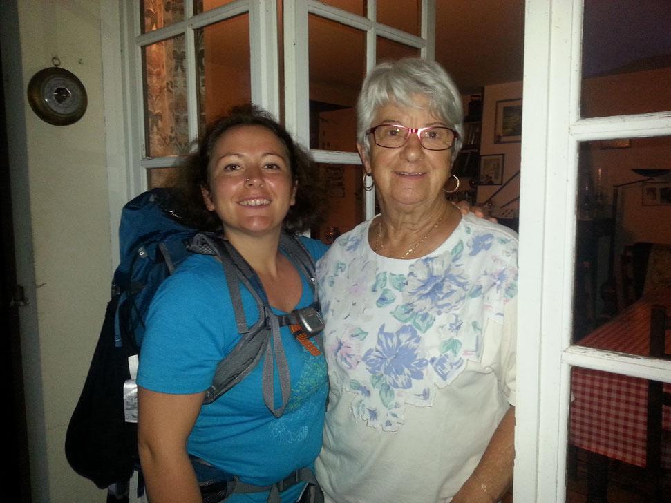 Une rencontre inoubliable!Lors de mon bout de chemin, l'accueil spontané de Gracie, qui nous a recueilli un jour de pluie après 37km de marche lorsque nous n'avions aucun endroit où dormir , un des meilleurs souvenirs!!!!