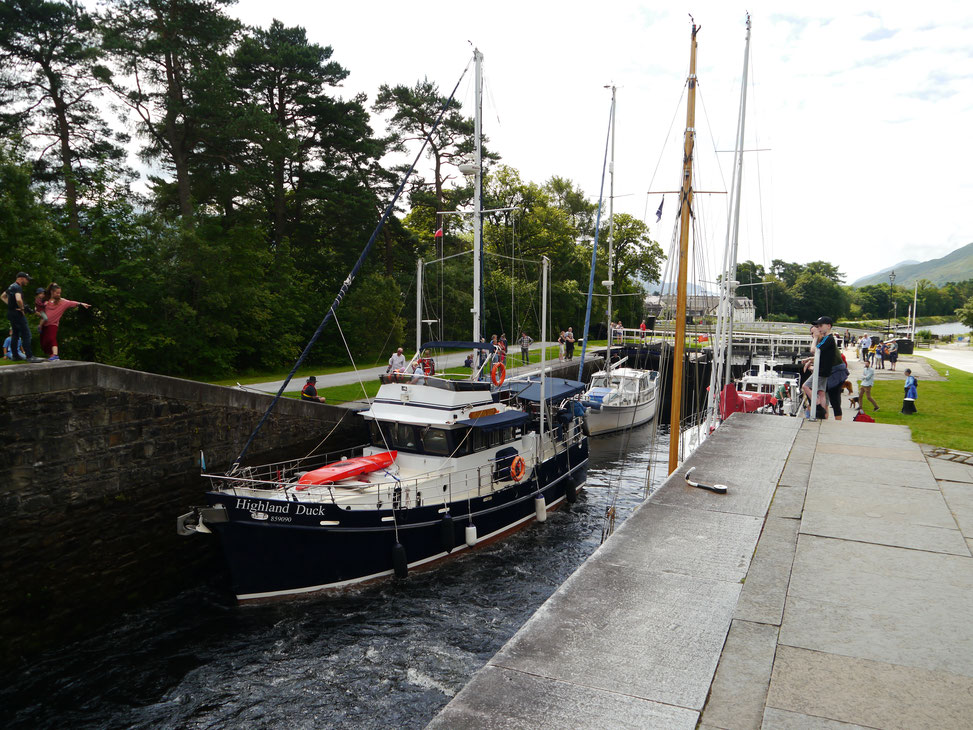 Neptuns' Staircase am Caledonian Canal