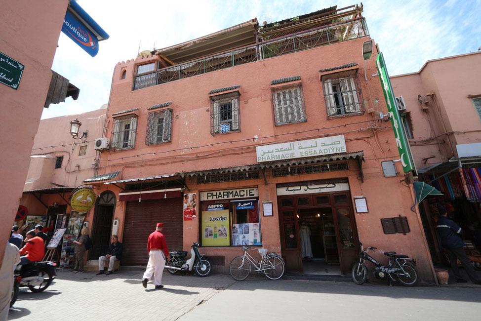 Cafe Restaurant NID' CIGOGNE in der südlichen Medina.