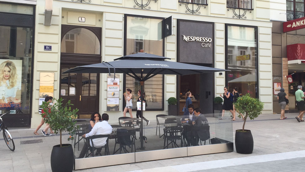 Sonnenschirme & Co  - Gastroschirme - Do & Co Nespresso 300 x 300 cm  - Wien