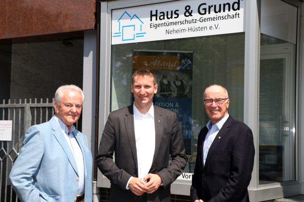 Gerd Schulte, Prof. Dr. Patrick Sensburg, Wilfried Gothe - Foto: hug