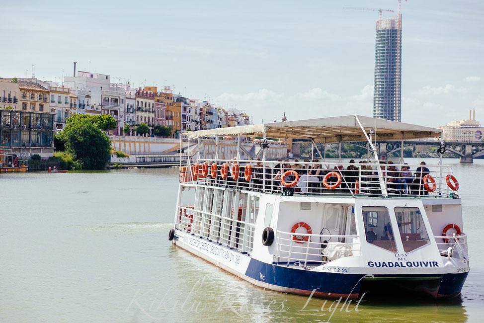 ... mit dem Schiff zur Feria/a la Feria en barco ...