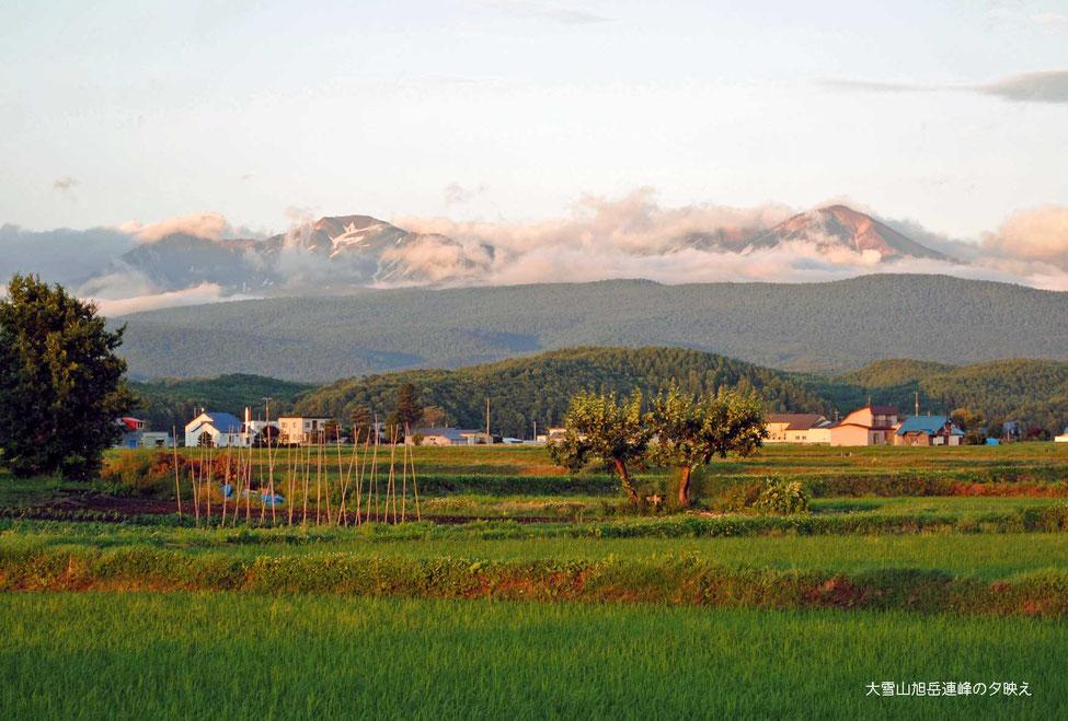 大雪山旭岳連峰の夕映え