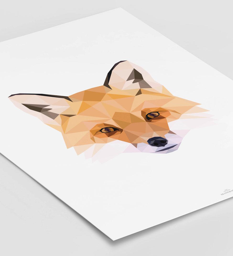 Poster Fuchs Geschenk