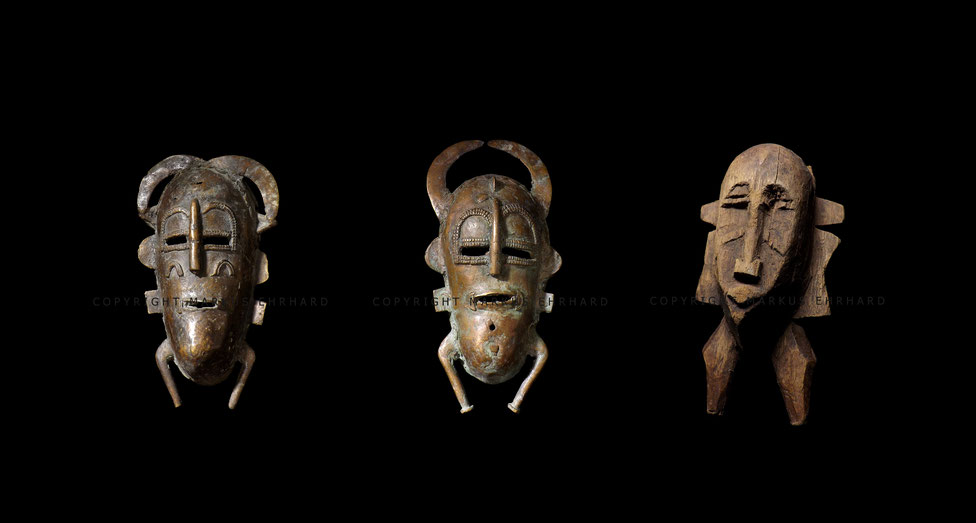 Senufo Kpelié kids masks by Fédiofègue Koné from Kolia and Karnigi Coulibaly from Fonodara