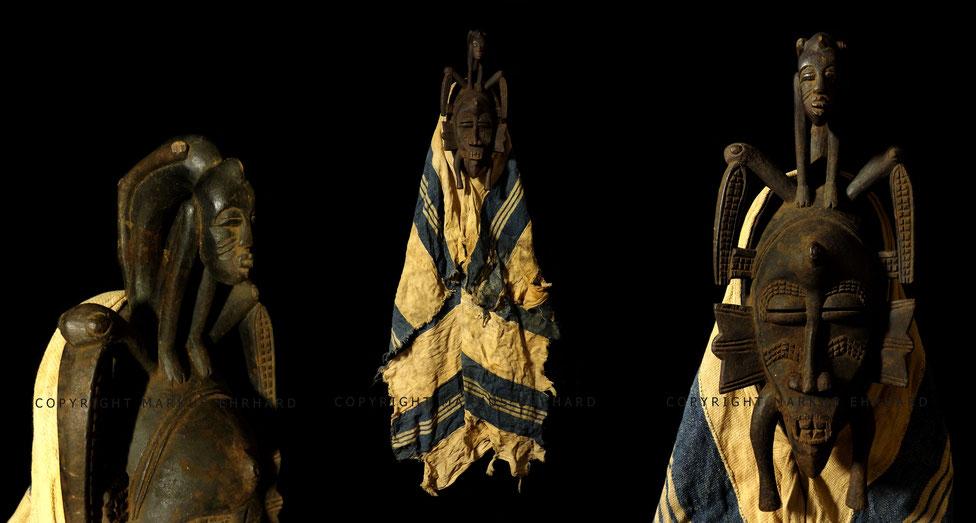 Senufo Kpelié mask acrobat, unkown carver, region of Korhogo