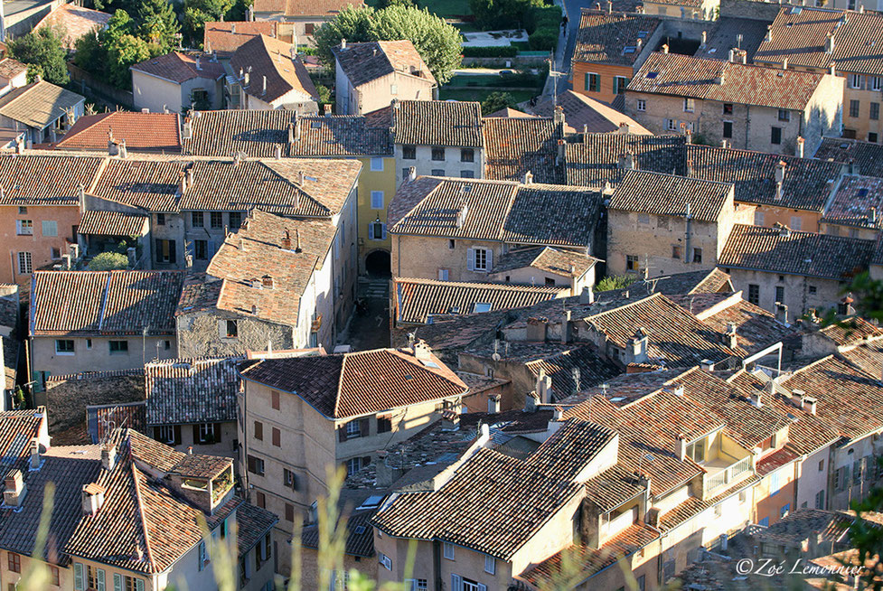 Roofs of the  village of Cotignac in Provence