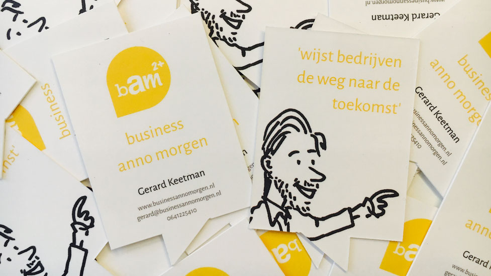 Visitekaartjes / businesscards business anno morgen