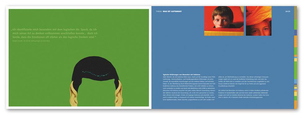 Broschüre Doppelseite mit Spockohren