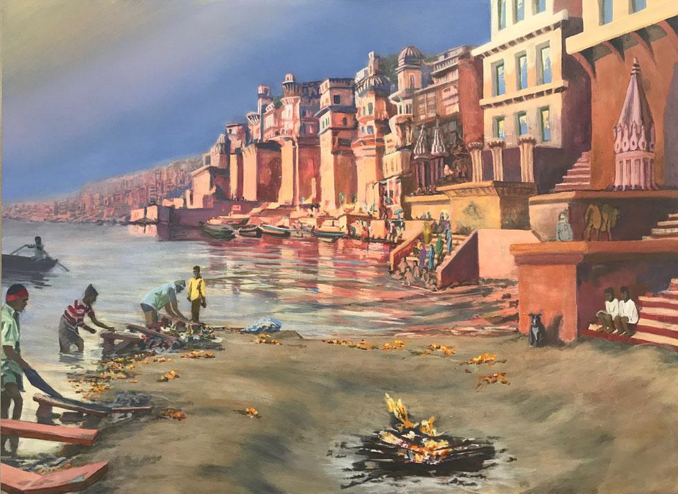 Varanasi, 110 x 150 cm, 2019
