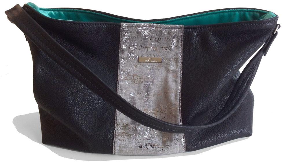Handtasche/Schultertasche/Hobo Bag aus pflanzlich gegerbtem Kunstleder