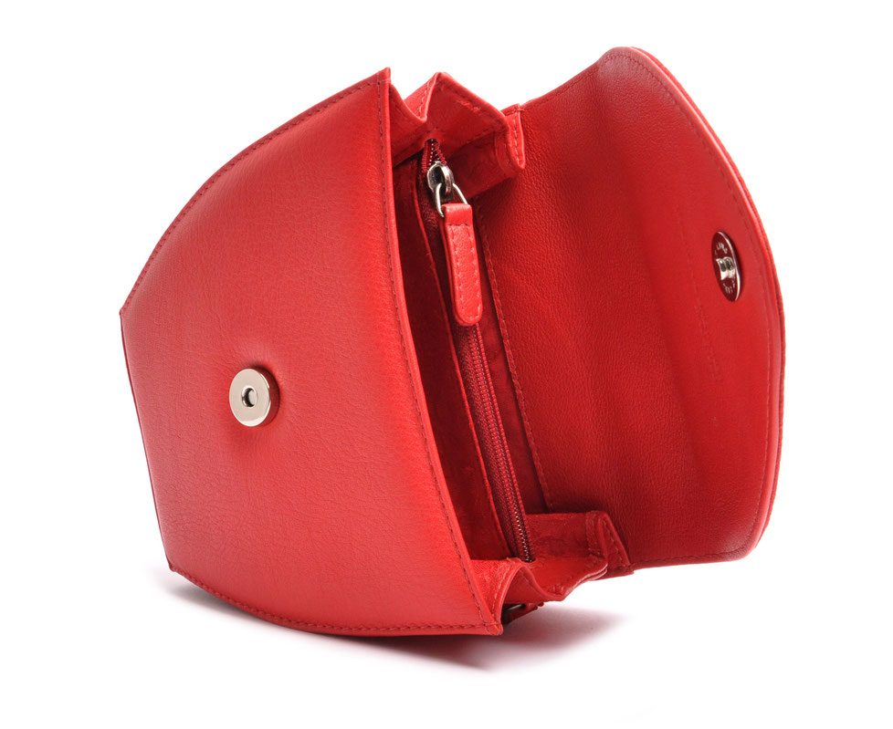 Edle Trachtentasche MARLA rot  Handgefertigt Ledermanufaktur OSTWALD Tradition