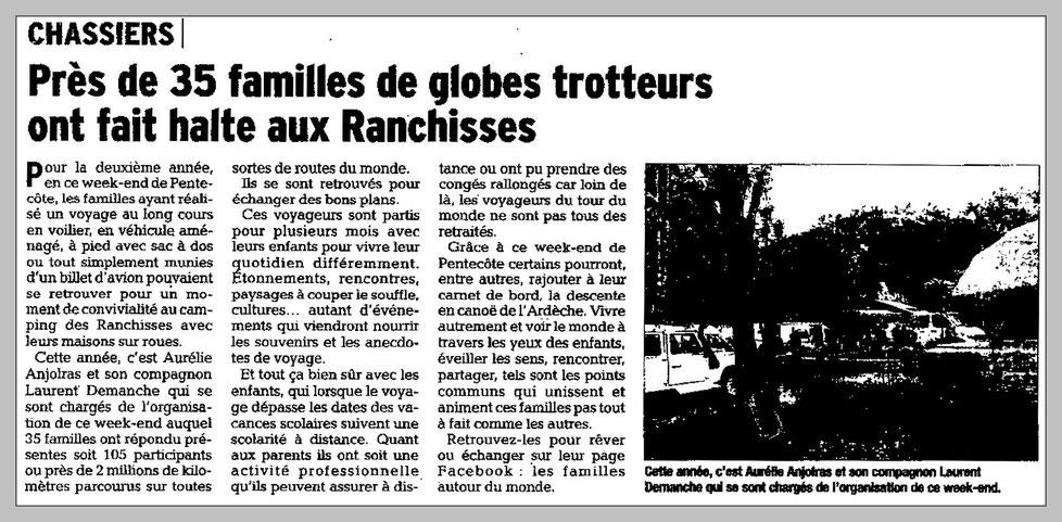 Edition du Dauphiné Libéré Ardèche (27/05/2015) .