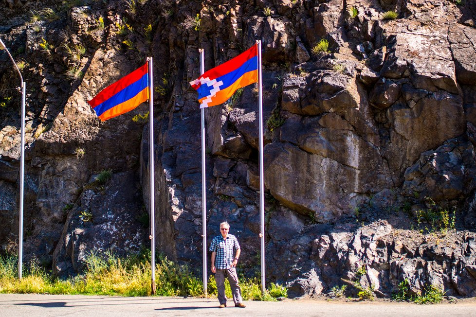 The border Armenia-Nagorno Karabakh
