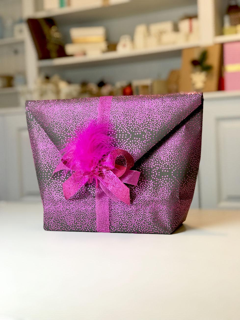 Geschenkpapier Glitter Pink