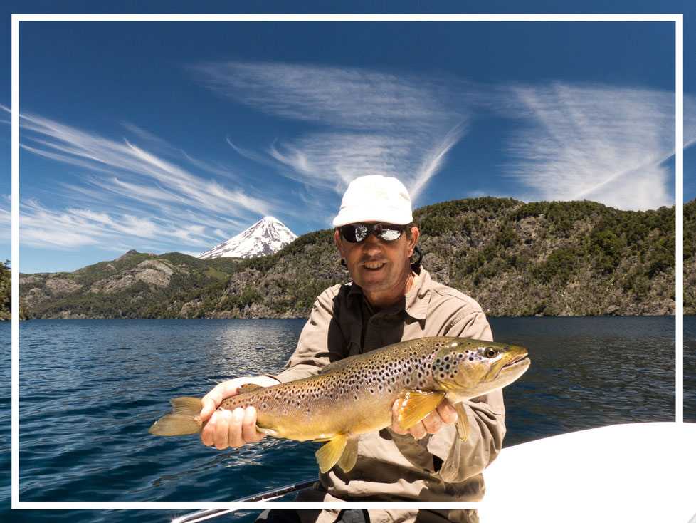 Fly fish North Patagonia, Argentina, FFTC.club adventure destination, SouthernLoops Fly Fishing, Fly fish freshwater destinations. San Martin de los Andes, Brown trout from the lake