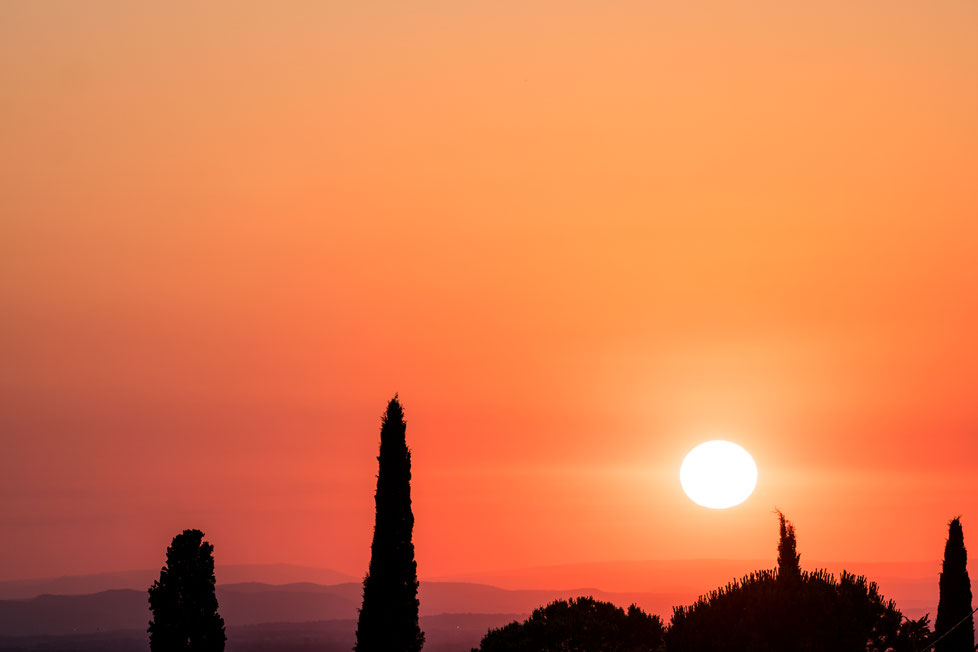 Sunset near Mont Ventoux in Provence