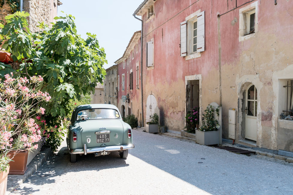 Classic car at Oppede le Vieux, Provence