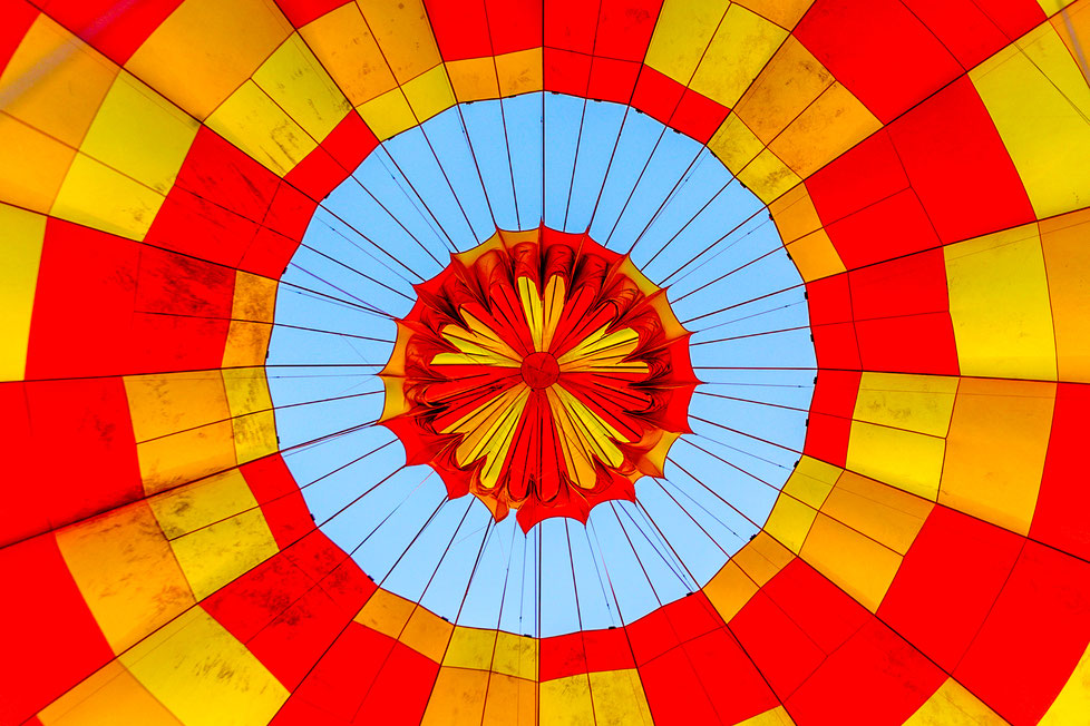 Balloon from the inside in Egypt