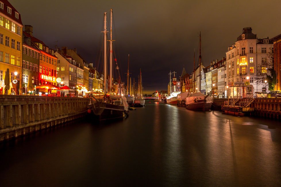 Long exposure of Nyhavn in Copenhagen