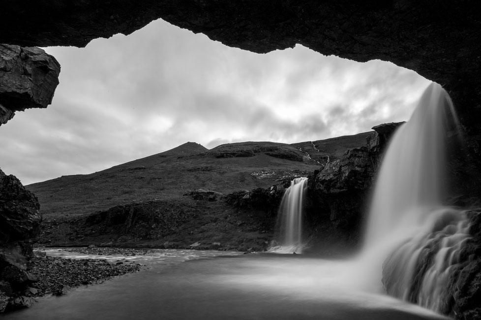 Skugafoss twin waterfall in Iceland