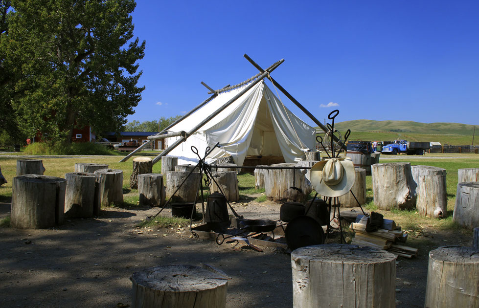 Round up Camp, Bar U Ranch, Alberta, National Historic Site, Canada, Kanada
