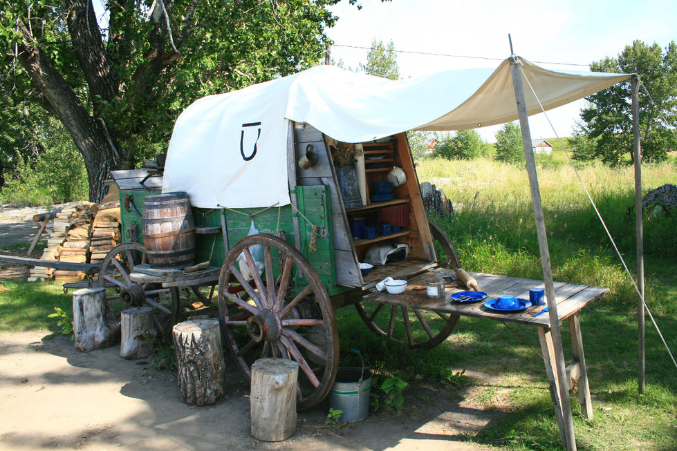 Wagon, Bar U Ranch, Alberta, National Historic Site, Canada, Kanada