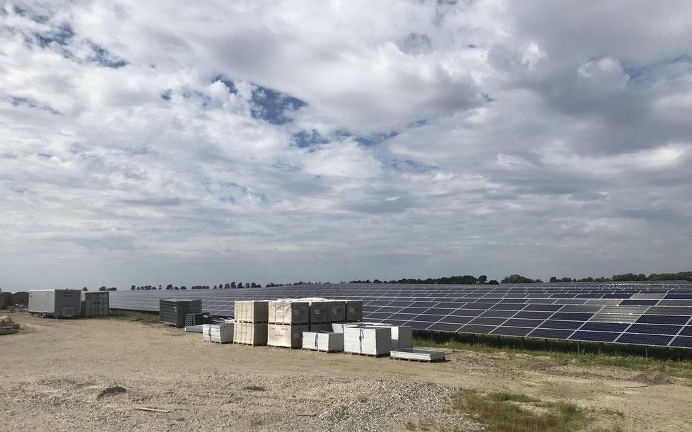 Google's 60 MW solcellepark Norddjurs (35 hektar)