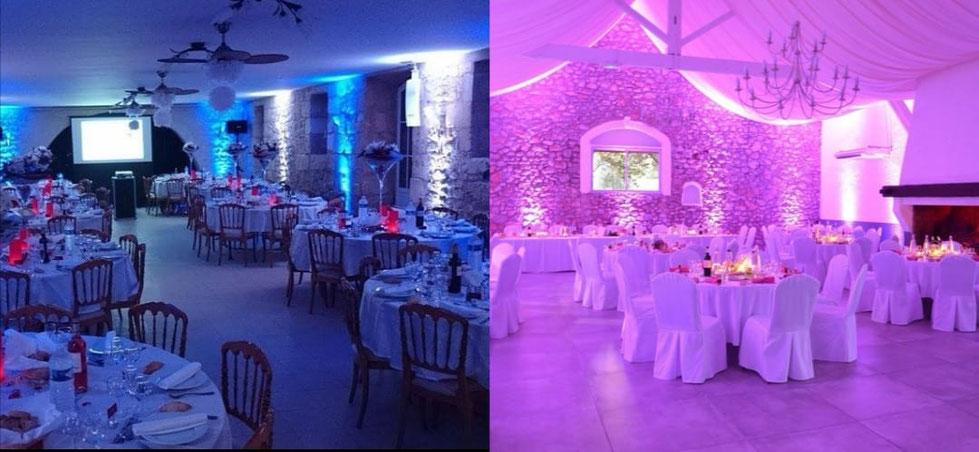 décoration lumineuse pour votre mariage à Cannes , Nice, Monaco,