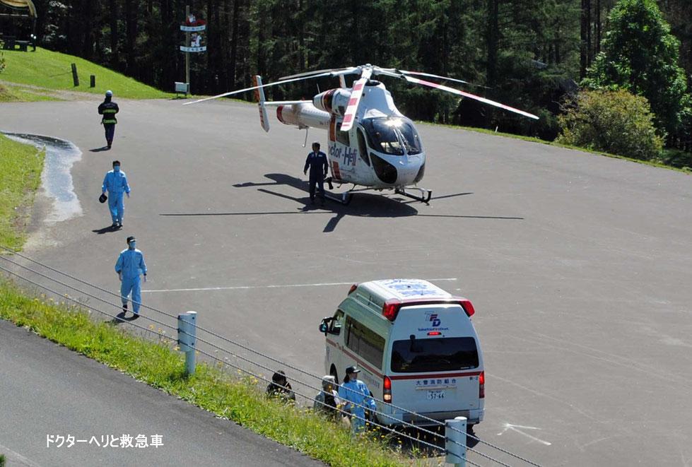 ドクターヘリと救急車-1