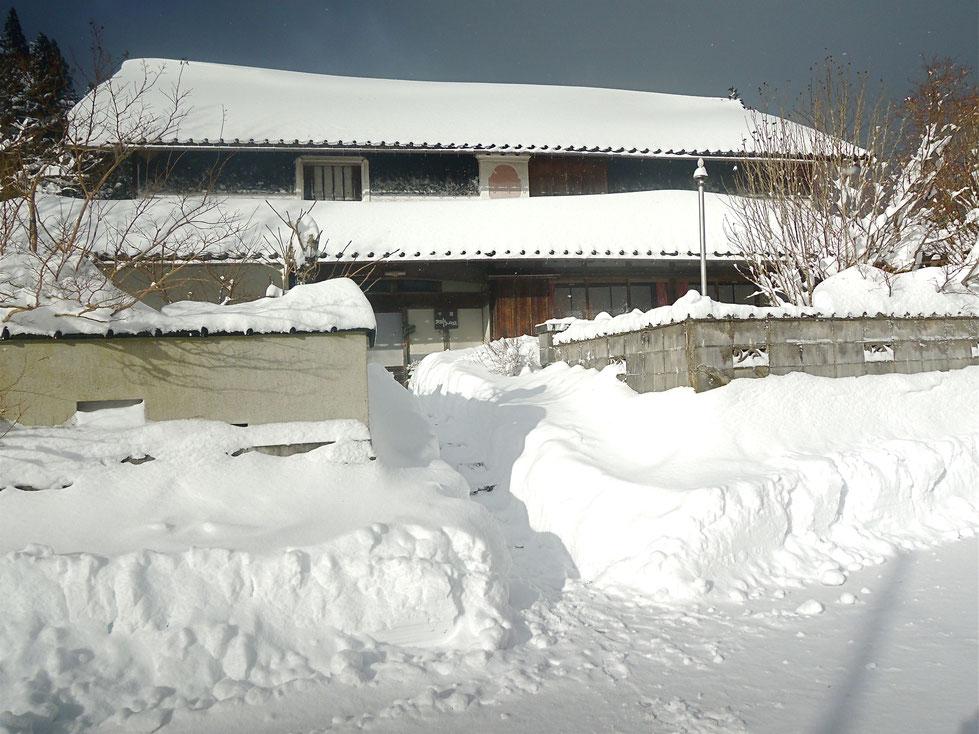 2020年大晦日の朝、新見市千屋花見60センチ以上の積雪!