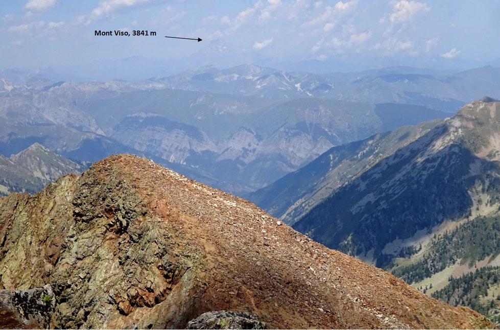 Vue côté italien depuis le sommet du Malinvern