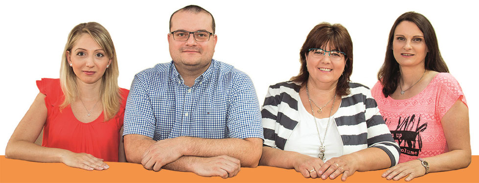 (v.l.) Frau Bischoff, Brian Fröhlich, Heike Woucznack, Frau Barg
