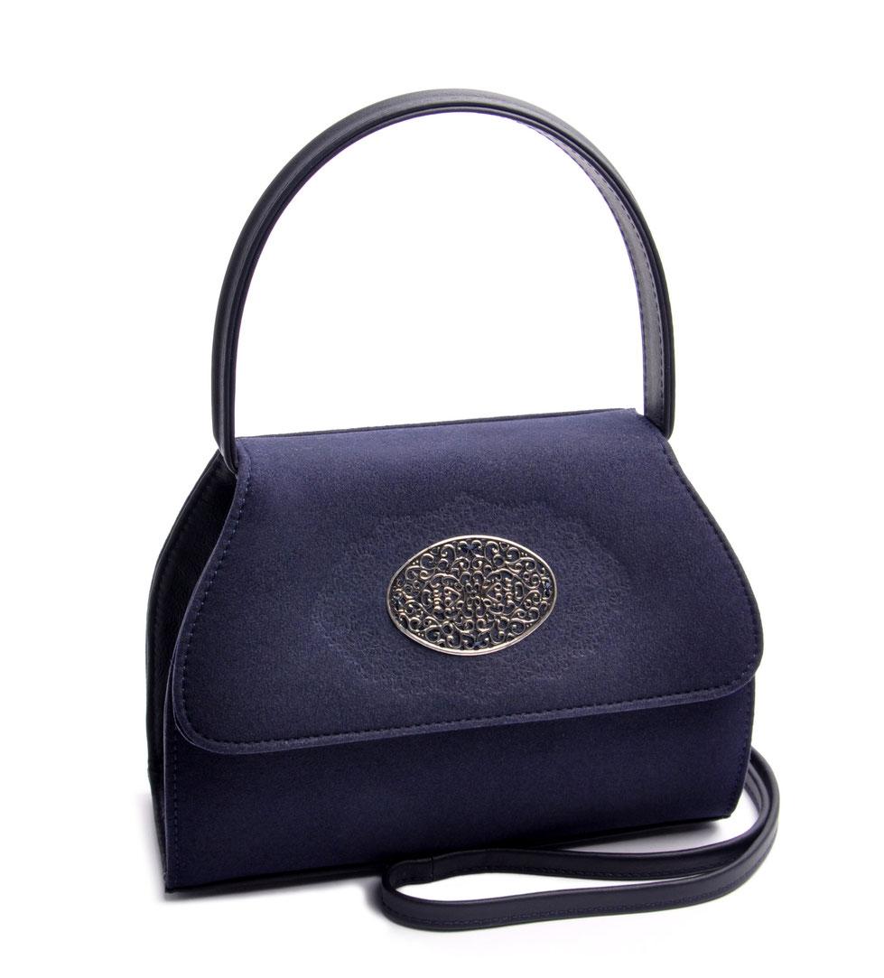 Dirndltasche Henkeltasche EMMA blau  echte Handarbeit online kaufen OSTWALD Traditional Craft