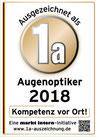 Ein Auszeichnung 1a Augenoptiker 2017 für Augenoptik Tölle. Das Geschäft befindet sich im real Südring Center Paderborn