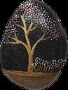 Les Galets de Lyzzz - galet fleurs et arbres décoration