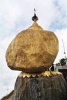 Der Goldene Felsen ein Heiligtum in Myanmar