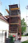 Fassadenrenovierung des Schlauchturm am alten Feuerwehrhaus