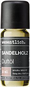 Duftöl Sandelholz Aromaöl Duftlampe und Diffuser - Premium Raumduft von wesentlich. 10ml