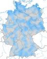 karte zum auftreten des Sichelstrandläufers im Jahresverlauf in Deutschland.