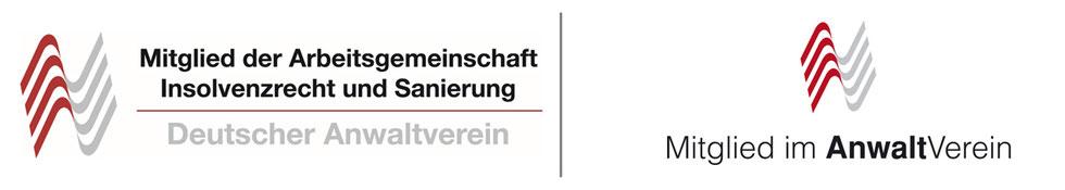 Logo Mitgliedschaften bei Arge  Insolvenzrecht und Sanierung und im Anwalt Verein