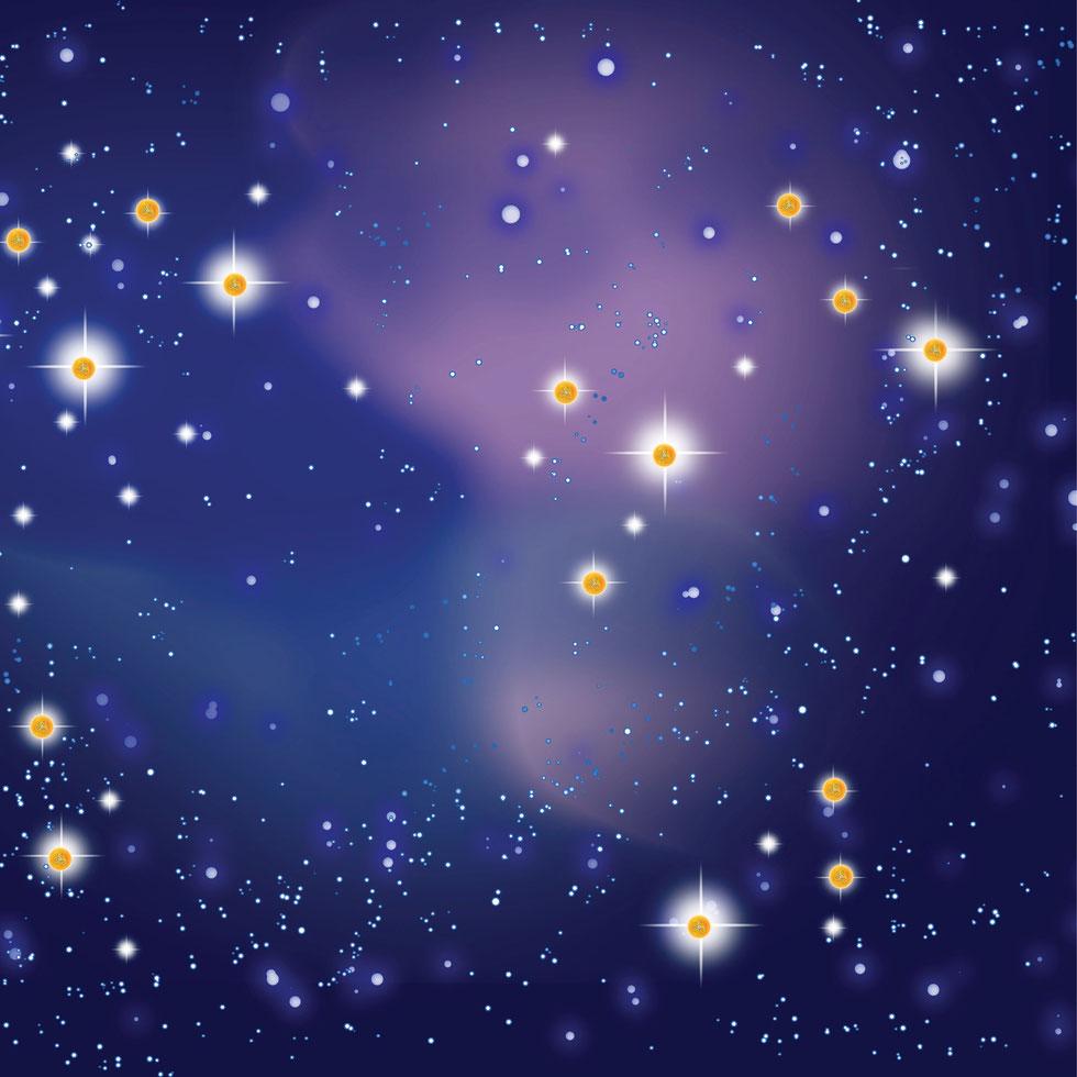 Jeder Stern trägt ein hochenergetisches Fraktal in seinem Innern, das zentripetale Kraft im Außen manifestiert