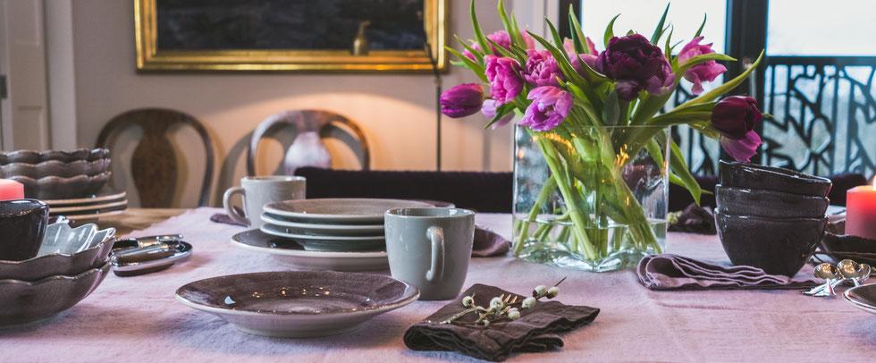 Frühlings Tischdeko mit Tulpen
